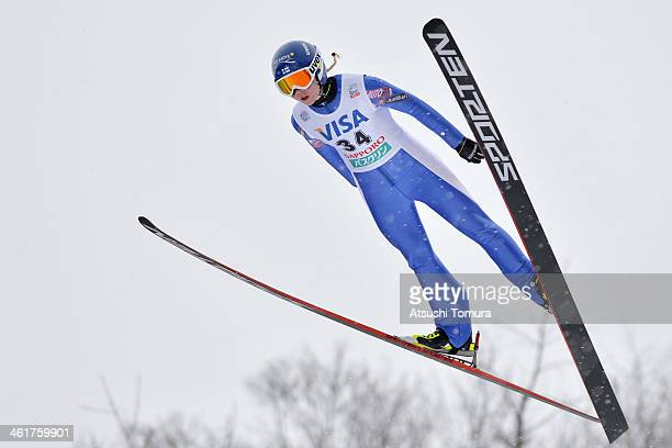 Julia Kykkaenen of Finland competes in the normal hill individual during the FIS Women's Ski Jumping World Cup Sapporo at Miyanomori Ski Jump Stadium...