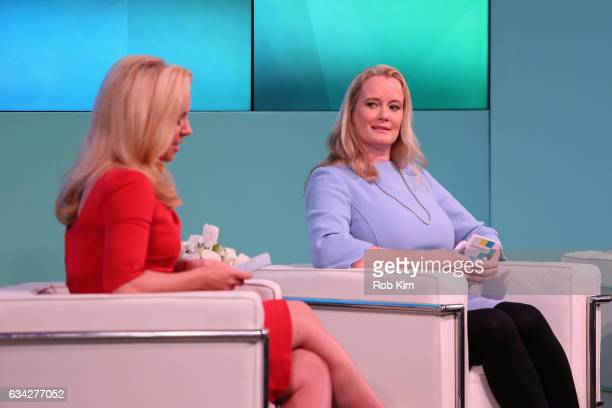 Julia La Roche and Hilary Irby speak on stage at the Yahoo Finance All Markets Summit on February 8 2017 in New York City