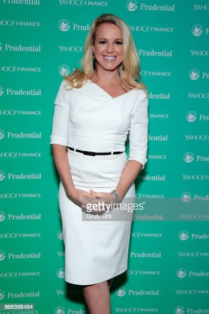 Julia La Roche attends the Yahoo Finance All Markets Summit on October 25 2017 in New York City