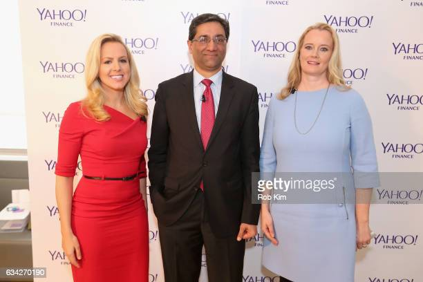 Julia La Roche Managing director Bank of America Surya Kolluri and managing director Morgan Stanley Hilary Irby speak on stage at the Yahoo Finance...