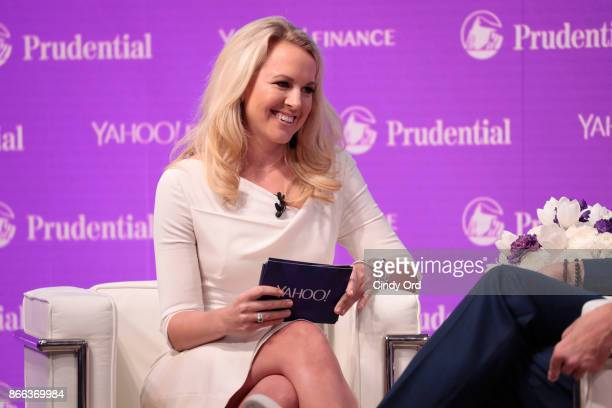 Julia La Roche speaks onstage at the Yahoo Finance All Markets Summit on October 25 2017 in New York City