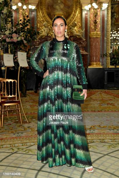 Julia Lang attends the Casablanca Men Menswear Fall/Winter 20202021 show as part of Paris Fashion Week on January 17 2020 in Paris France