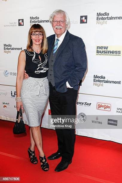 Julia Laubrunn and Carlo von Tiedemann attend the Media Entertainment Night 2014 at Atlantik Hotel on October 06, 2014 in Hamburg, Germany.