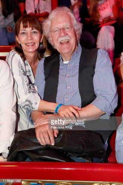 Julia Laubrunn and Carlo von Tiedemann during Circus Roncalli Gala at Moorweide Park on June 7, 2019 in Hamburg, Germany.