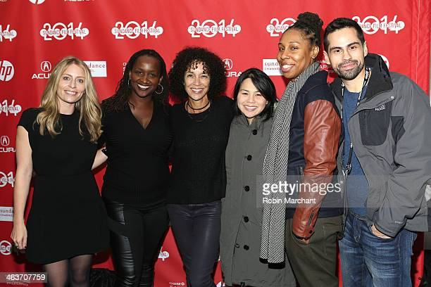 Julia Lebedeu Effie Brown Stephanie Allain Bray Ann Le Lena White and Angel Lopez attends the premiere of Dear White People at the Library Center...
