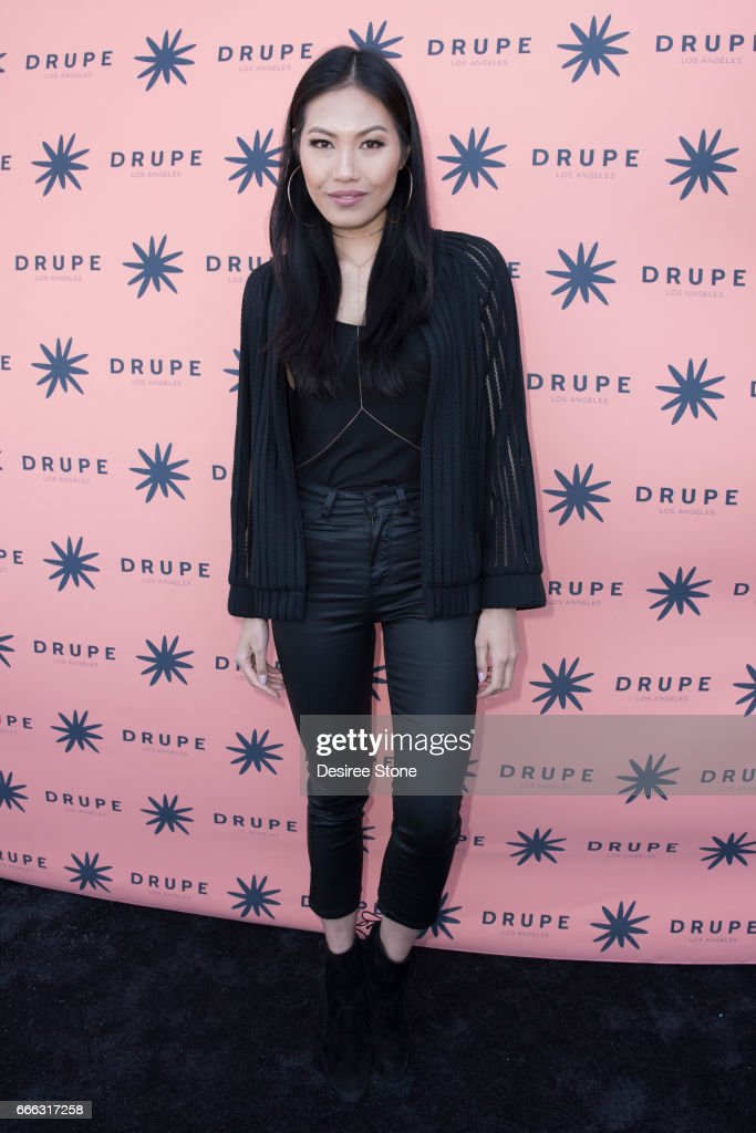 Julia Lee attends the Drupe Los Angeles Launch Party on April 8, 2017 in Beverly Hills, United States.