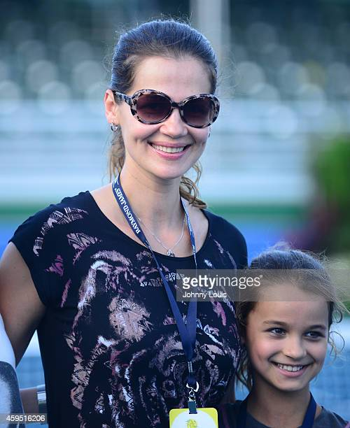 Julia Lemigova and Emma Lemigova participate in the 25th Annual Chris Evert/Raymond James ProCelebrity Tennis Classic at Delray Beach Tennis Center...