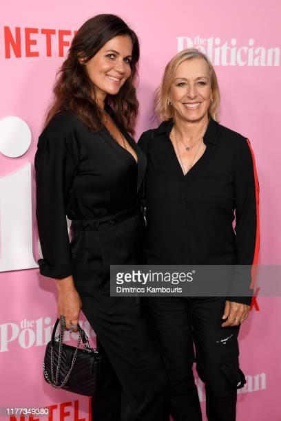 Julia Lemigova and Martina Navratilova attend Netflix's The Politician Season One Premiere at DGA Theater on September 26 2019 in New York City