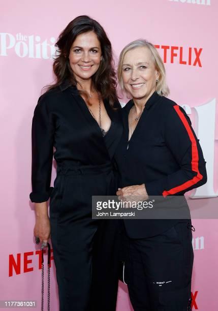Julia Lemigova and Martina Navratilova attend The Politician New York Premiere at DGA Theater on September 26 2019 in New York City