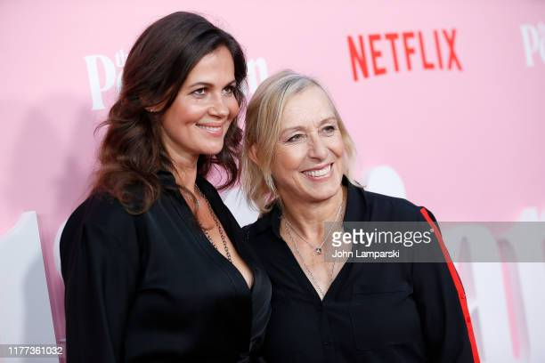 Julia Lemigova and Martina Navratilova attend The Politician New York Premiere at DGA Theater on September 26 2019 in New York City