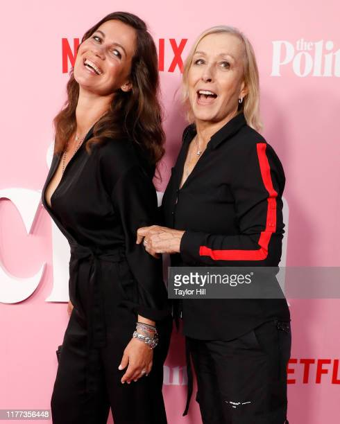 Julia Lemigova and Martina Navratilova attend the premiere of Netflix's The Politician at DGA Theater on September 26 2019 in New York City