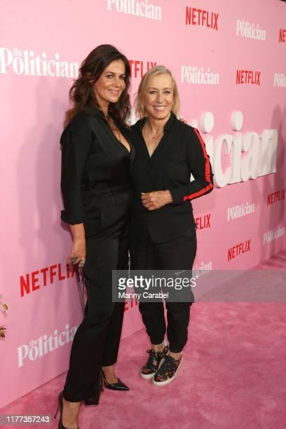 Julia Lemigova and Martina Navratilova attends The Politician New York Premiere at DGA Theater on September 26 2019 in New York City