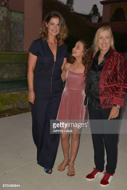 Julia Lemigova Emma Lemigova and Martina Navratilova attend the 2017 Chris Evert/Raymond James ProCelebrity Tennis Classic ProCelebrity Gala at Boca...