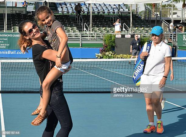 Julia Lemigova Emma Lemigova and Martina Navratilova participate in the 25th Annual Chris Evert/Raymond James ProCelebrity Tennis Classic at Delray...