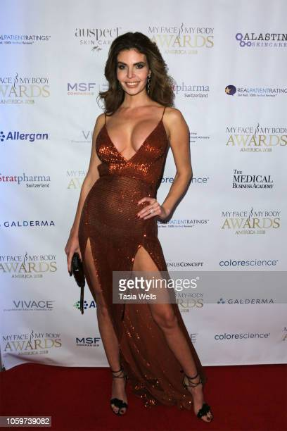 Julia Lescova attends the MyFaceMyBody Awards 2018 at the Beverly Wilshire Four Seasons Hotel on November 9, 2018 in Beverly Hills, California.