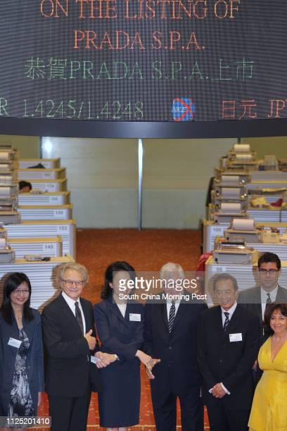 Julia Leung Under Secretary for Financial Services and the Treasury Financial Services and the Treasury Bureau Carlo Mazzi Deputy Chairman PRADA SpA...
