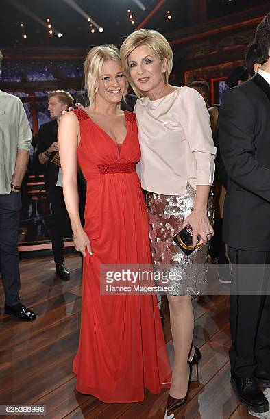 Julia Lindholm and Carmen Nebel during the tv show 'Heiligabend mit Carmen Nebel' on November 23 2016 in Munich Germany The show will air on December...