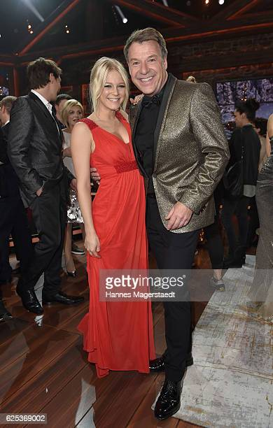 Julia Lindholm and Patrick Lindner during the tv show 'Heiligabend mit Carmen Nebel' on November 23 2016 in Munich Germany The show will air on...