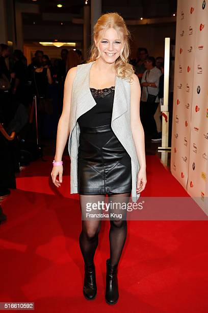 Julia Lindholm attends the TV show 'Willkommen bei Carmen Nebel' on March 19 2016 in Magdeburg Germany