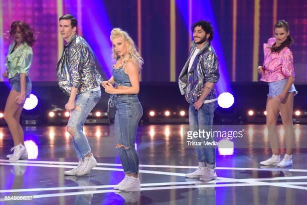 Julia Lindholm during the tv show 'Stefanie Hertel Die grosse Show der langen Beine' on September 27 2017 in Zwickau Germany