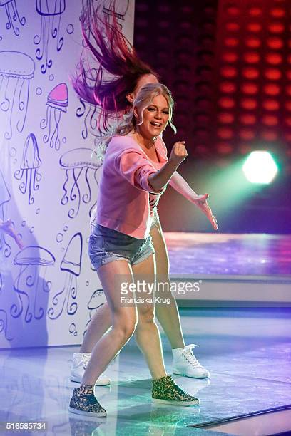 Julia Lindholm performs at the TV show 'Willkommen bei Carmen Nebel' on March 19 2016 in Magdeburg Germany