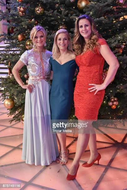Julia Lindholm, Stefanie Hertel and Katharina Herz during the Stefanie Hertel Show 'Die grosse Show der Weihnachtslieder' on November 17, 2017 in...
