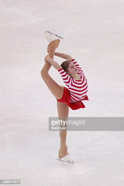 Julia Lipnitskaia of Russia competes in ladies short program during Lexus Cup of China 2014 on November 7 2014 in Shanghai China