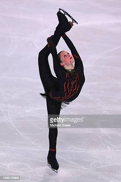 Julia Lipnitskaia of Russia during the Ladies Short Program on day one of the ISU Grand Prix of Figure Skating Trophee Eric Bompard at Omnisports...