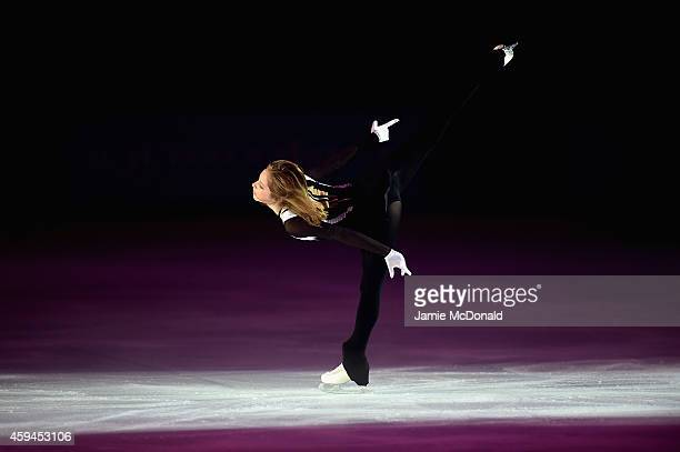 Julia Lipnitskaia of Russia performs during day three of Trophee Eric Bompard ISU Grand Prix of Figure Skating at the Meriadeck Ice Rink on November...