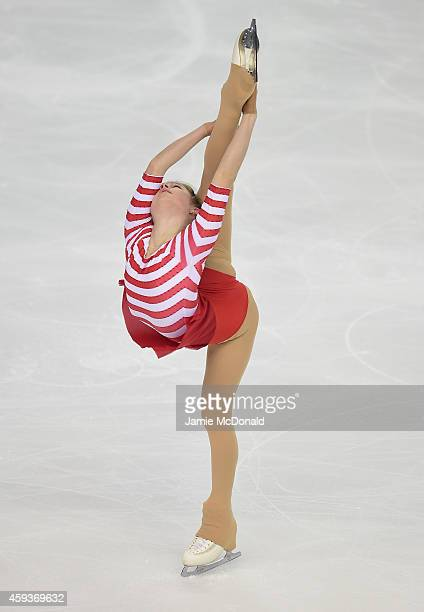 Julia Lipnitskaia of Russia performs during the Ladies Short program during day one of Trophee Eric Bompard ISU Grand Prix of Figure Skating at the...