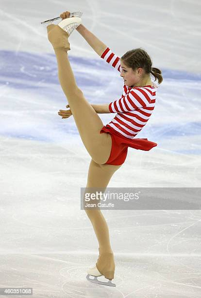 Julia Lipnitskaia of Russia performs during the Ladies Short Program Final on day one of the ISU Grand Prix of Figure Skating Final 2014/2015 at...