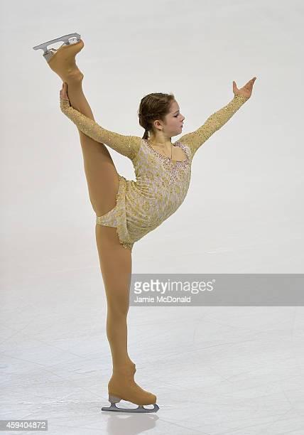 Julia Lipnitskaia of Russia performs her Ladies Free Skate program during day two of Trophee Eric Bompard ISU Grand Prix of Figure Skating at the...