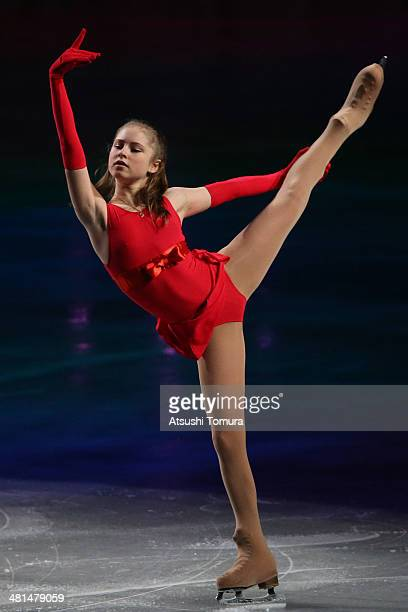Julia Lipnitskaia of Russia performs her routine in the exhibition during ISU World Figure Skating Championships at Saitama Super Arena on March 30...