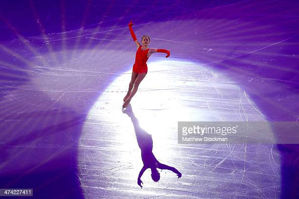 Julia Lipnitskaia of Russia skates during the Figure Skating Exhibition Gala on Day 15 of the Sochi 2014 Winter Olympics at Iceberg Skating Palace on...