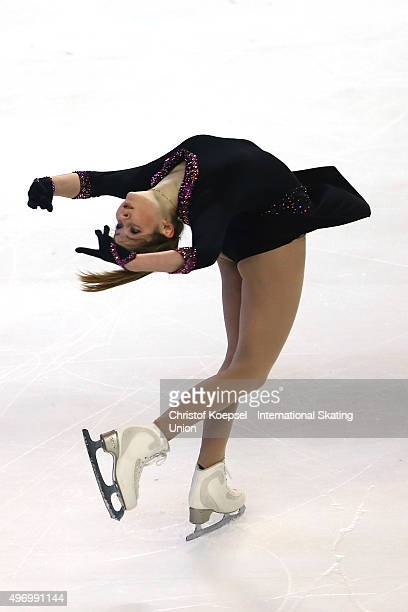 Julia Lipnitskaia of Russia skates during the ladies short program of the ISU Grand Prix at Meriadeck Ice Rink on November 13 2015 in Bordeaux France