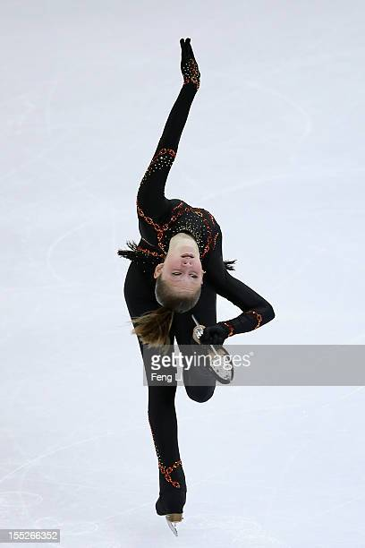 Julia Lipnitskaia of Russia skates in the Ladies Short Program during Cup of China ISU Grand Prix of Figure Skating 2012 at the Oriental Sports...