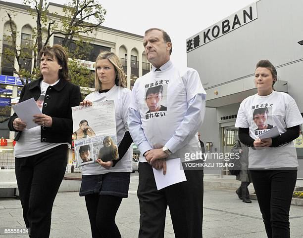 Julia Lisa Bill and Louise Hawker family members of slain 22yearold Lindsay Ann Hawker of Britain whose body was found at an apartment on March 26...