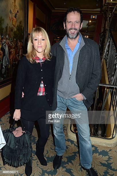 Julia Livage and Christian Vadim attend the 'Journee Du Livre Et Du Vin' 2014 Jury Press Conference At the Procope Restaurant on February 10 2014 in...