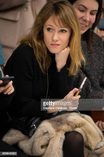 Julia Livage attends the Bonpoint Winter 2018 show as part of Paris Fashion Week January 24 2018 in Paris France