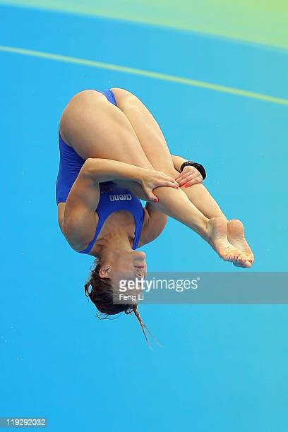 Julia Loennegren of Sweden competes in the Women's 1m Springboard preliminary round during Day Two of the 14th FINA World Championships at the...