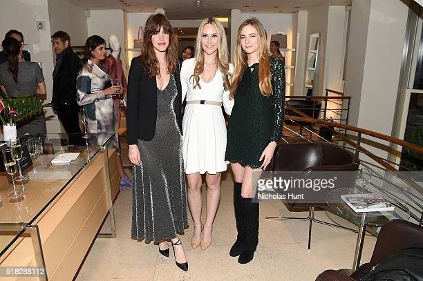 Julia Loomis Elizabeth Kurpis and Amanda Kahn attend Max Mara's celebration of the YoungArts New York Inaugural Gala on March 30 2016 in New York City