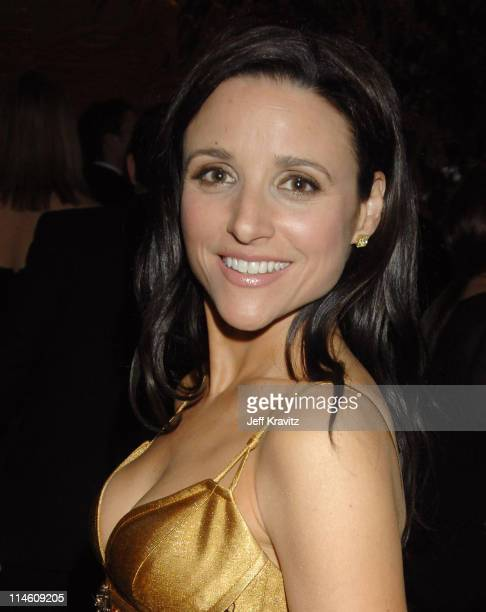 Julia Louis Dreyfus during 64th Annual Golden Globe Awards Lobby Departures at Beverly Hilton in Beverly Hills California United States