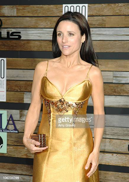 Julia Louis Dreyfus during E and EMA's 2007 Golden Globe After Party Arrivals at 9900 Wilshire in Beverly Hills California United States