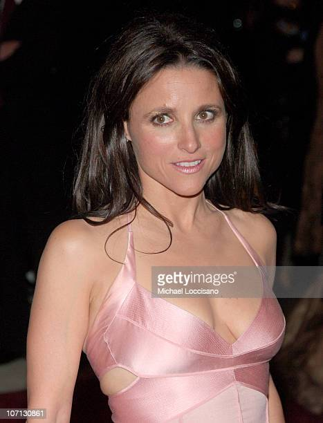 Julia Louis Dreyfus during 'Poiret King of Fashion' Costume Institute Gala at The Metropolitan Museum of Art Departures at The Metropolitan Museum of...