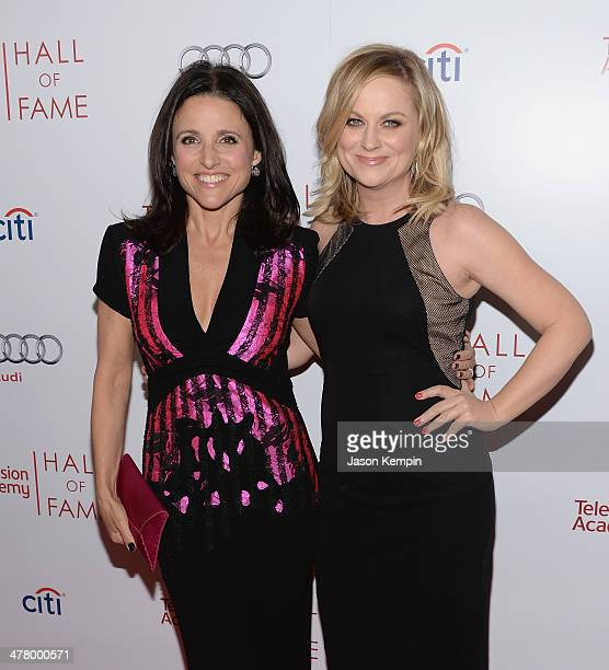 Julia LouisDreyfus and Amy Poehler attend The Television Academy's 23rd Hall Of Fame Induction Gala at Regent Beverly Wilshire Hotel on March 11 2014...