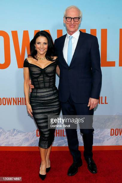 "Julia Louis-Dreyfus and Brad Hall attend the premiere of ""Downhill"" at SVA Theater on February 12, 2020 in New York City."