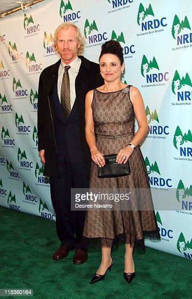 Julia LouisDreyfus and Brad Hall during 7th Annual Forces for Nature Gala Benefit Arrivals at Cipriani in New York City New York United States