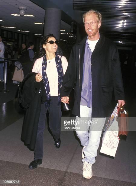 Julia LouisDreyfus and Brad Hall during Julia LouisDreyfus Sighting at Los Angeles International Airport November 16 1997 at Los Angeles...