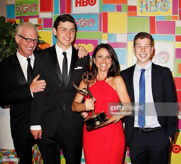 Julia LouisDreyfus and family attend HBO's 2014 Emmy after party at The Plaza at the Pacific Design Center on August 25 2014 in Los Angeles California