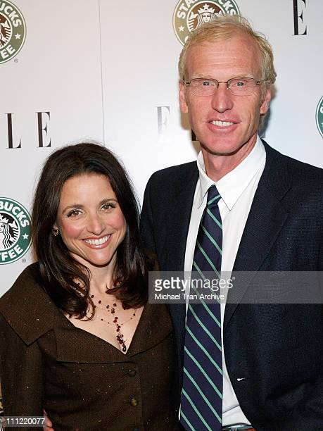 Julia LouisDreyfus and husband Brad Hall during ELLE Celebrates 1st Green Issue Launch Party Arrivals at Pacific Design Center in West Hollywood...